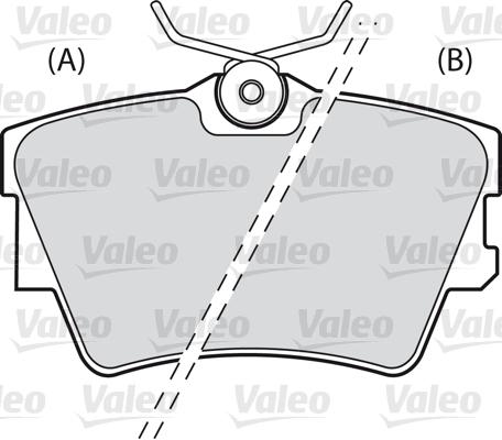 Kit de plaquettes de frein, frein à disque - VALEO - 598546