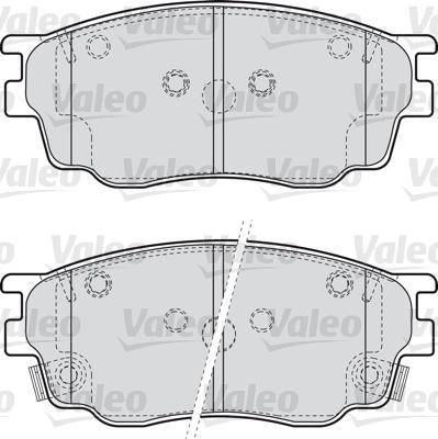 Kit de plaquettes de frein, frein à disque - VALEO - 598647
