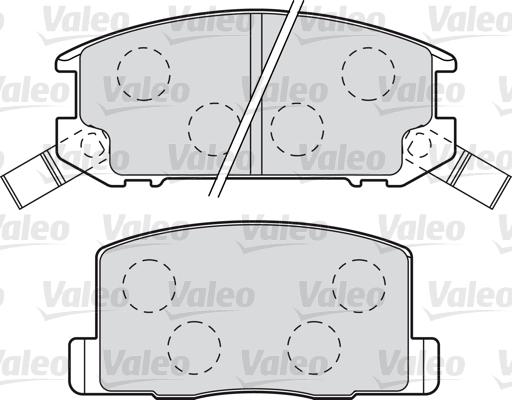 Kit de plaquettes de frein, frein à disque - VALEO - 598983