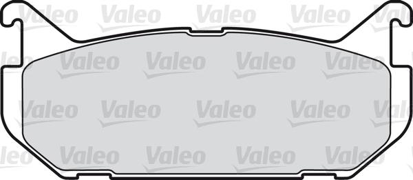Kit de plaquettes de frein, frein à disque - VALEO - 598290