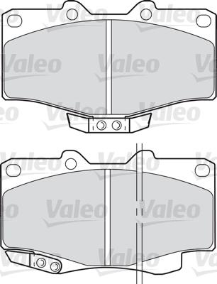 Kit de plaquettes de frein, frein à disque - VALEO - 598393