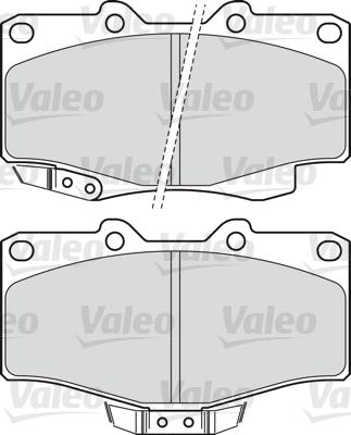 Kit de plaquettes de frein, frein à disque - VALEO - 598897