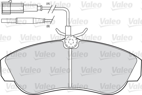 Kit de plaquettes de frein, frein à disque - VALEO - 598800