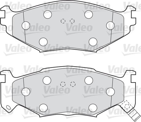 Kit de plaquettes de frein, frein à disque - VALEO - 598600