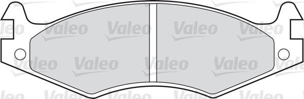 Kit de plaquettes de frein, frein à disque - VALEO - 598595