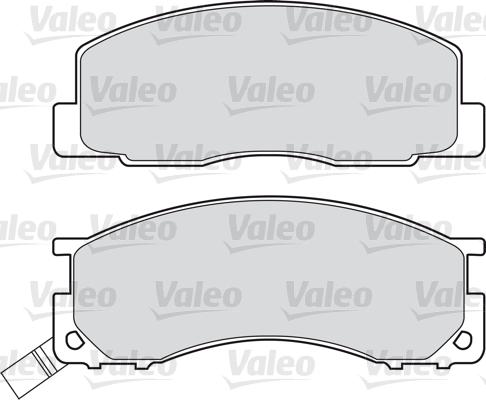 Kit de plaquettes de frein, frein à disque - VALEO - 598496