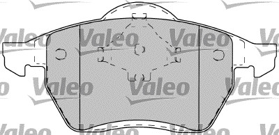 Kit de plaquettes de frein, frein à disque - VALEO - 598489