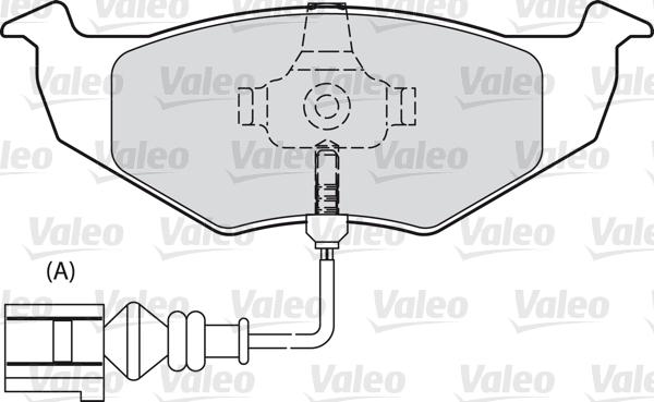 Kit de plaquettes de frein, frein à disque - VALEO - 598488