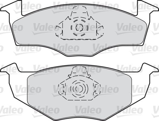 Kit de plaquettes de frein, frein à disque - VALEO - 598403