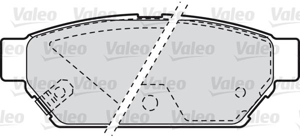 Kit de plaquettes de frein, frein à disque - VALEO - 598844