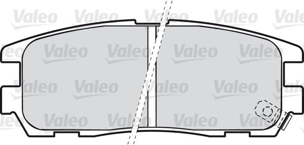 Kit de plaquettes de frein, frein à disque - VALEO - 598507