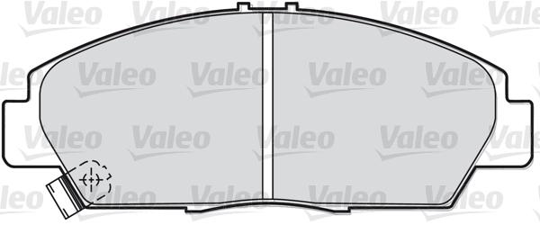 Kit de plaquettes de frein, frein à disque - VALEO - 598056