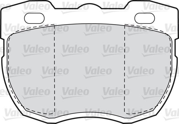 Kit de plaquettes de frein, frein à disque - VALEO - 598498