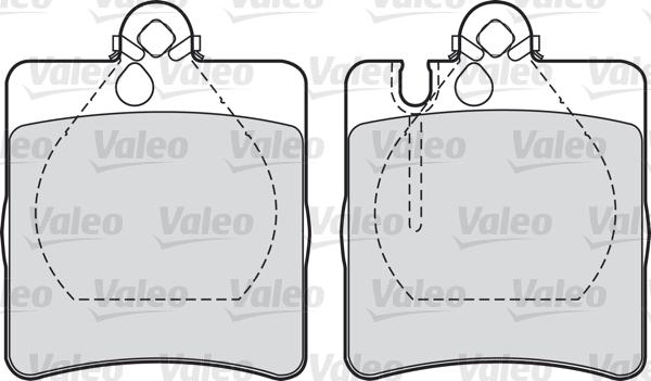 Kit de plaquettes de frein, frein à disque - VALEO - 598447