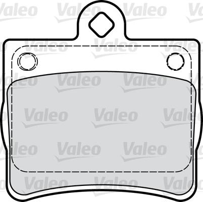 Kit de plaquettes de frein, frein à disque - VALEO - 598763