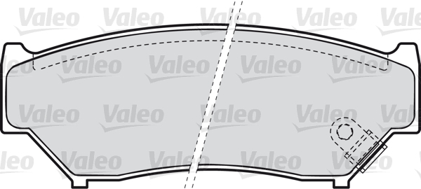 Kit de plaquettes de frein, frein à disque - VALEO - 598533