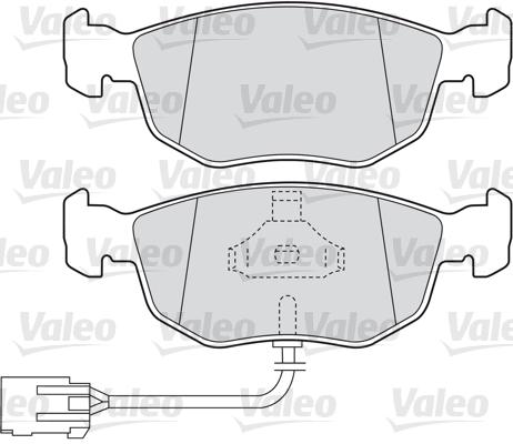 Kit de plaquettes de frein, frein à disque - VALEO - 598630