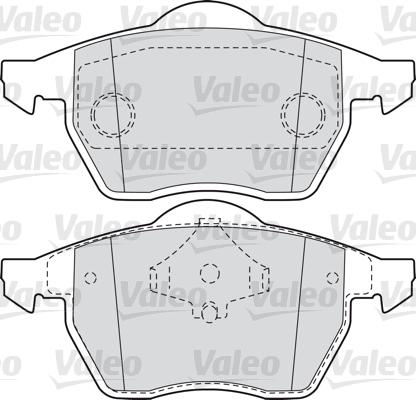 Kit de plaquettes de frein, frein à disque - VALEO - 598355