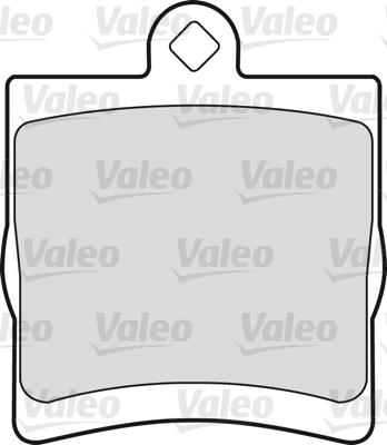 Kit de plaquettes de frein, frein à disque - VALEO - 598444