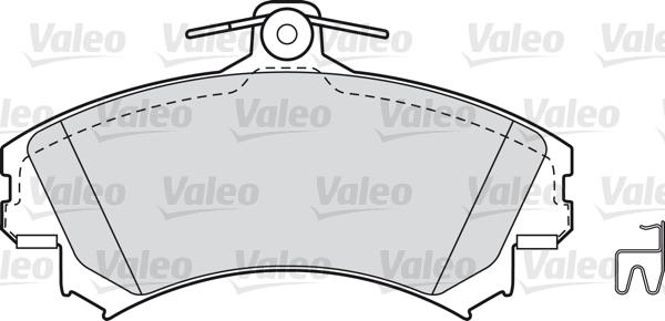Kit de plaquettes de frein, frein à disque - VALEO - 598318