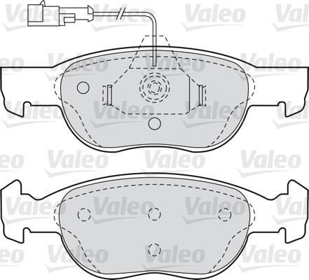 Kit de plaquettes de frein, frein à disque - VALEO - 598607