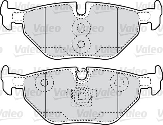 Kit de plaquettes de frein, frein à disque - VALEO - 598753