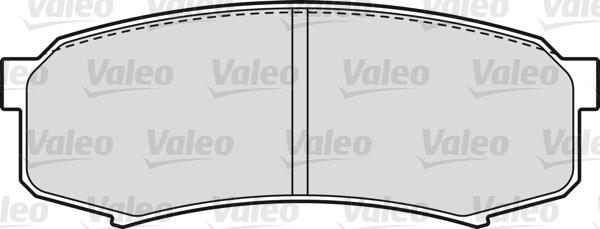 Kit de plaquettes de frein, frein à disque - VALEO - 598777