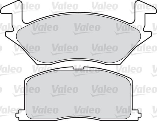 Kit de plaquettes de frein, frein à disque - VALEO - 598815