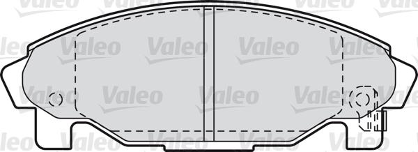 Kit de plaquettes de frein, frein à disque - VALEO - 598850