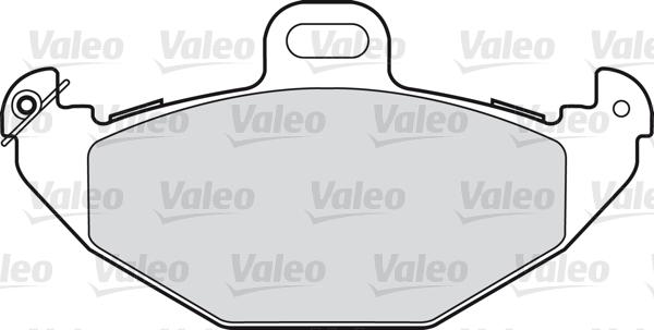 Kit de plaquettes de frein, frein à disque - VALEO - 598328