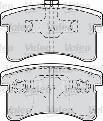 Kit de plaquettes de frein, frein à disque - VALEO - 601024