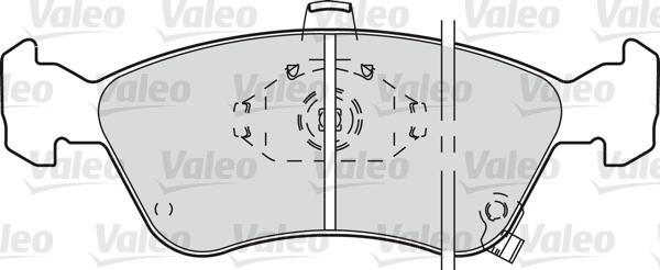 Kit de plaquettes de frein, frein à disque - VALEO - 598478