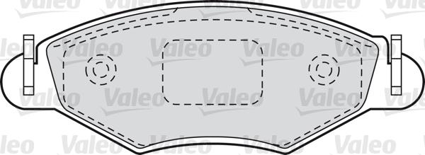 Kit de plaquettes de frein, frein à disque - VALEO - 598461