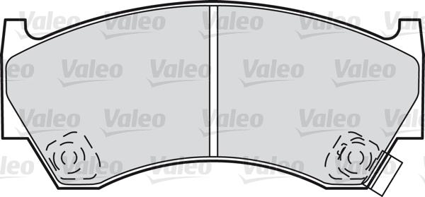 Kit de plaquettes de frein, frein à disque - VALEO - 598071