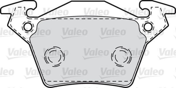 Kit de plaquettes de frein, frein à disque - VALEO - 598301