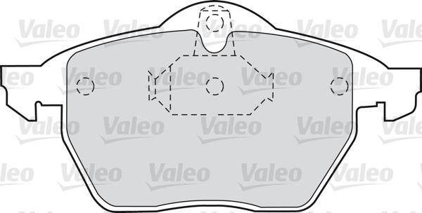 Kit de plaquettes de frein, frein à disque - VALEO - 598454