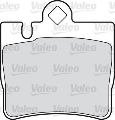 Kit de plaquettes de frein, frein à disque - VALEO - 598446
