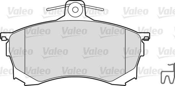 Kit de plaquettes de frein, frein à disque - VALEO - 598320