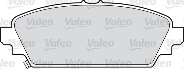 Kit de plaquettes de frein, frein à disque - VALEO - 598435