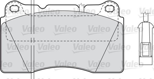 Kit de plaquettes de frein, frein à disque - VALEO - 598309