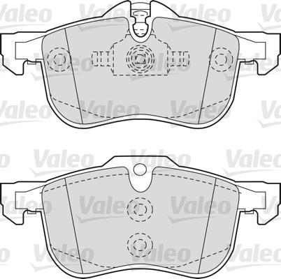 Kit de plaquettes de frein, frein à disque - VALEO - 598632