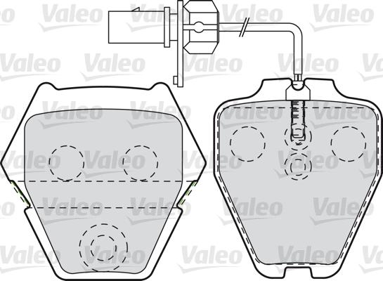 Kit de plaquettes de frein, frein à disque - VALEO - 598992
