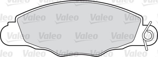 Kit de plaquettes de frein, frein à disque - VALEO - 598420