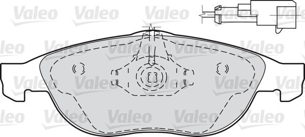 Kit de plaquettes de frein, frein à disque - VALEO - 598880