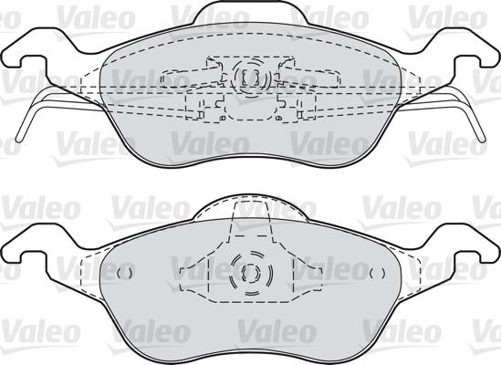 Kit de plaquettes de frein, frein à disque - VALEO - 598317