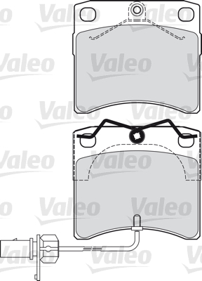 Kit de plaquettes de frein, frein à disque - VALEO - 598807