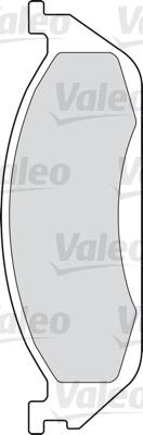Kit de plaquettes de frein, frein à disque - VALEO - 598442