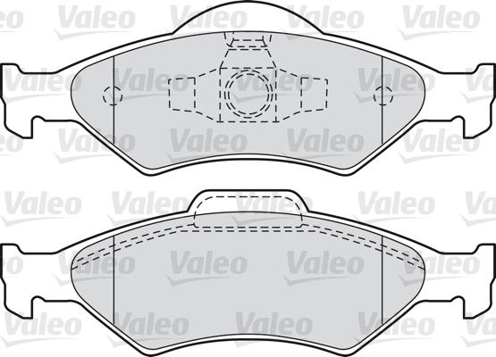 Kit de plaquettes de frein, frein à disque - VALEO - 598563