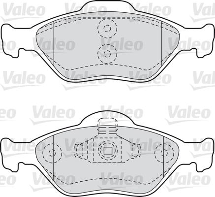 Kit de plaquettes de frein, frein à disque - VALEO - 598564