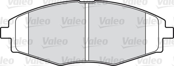 Kit de plaquettes de frein, frein à disque - VALEO - 598316